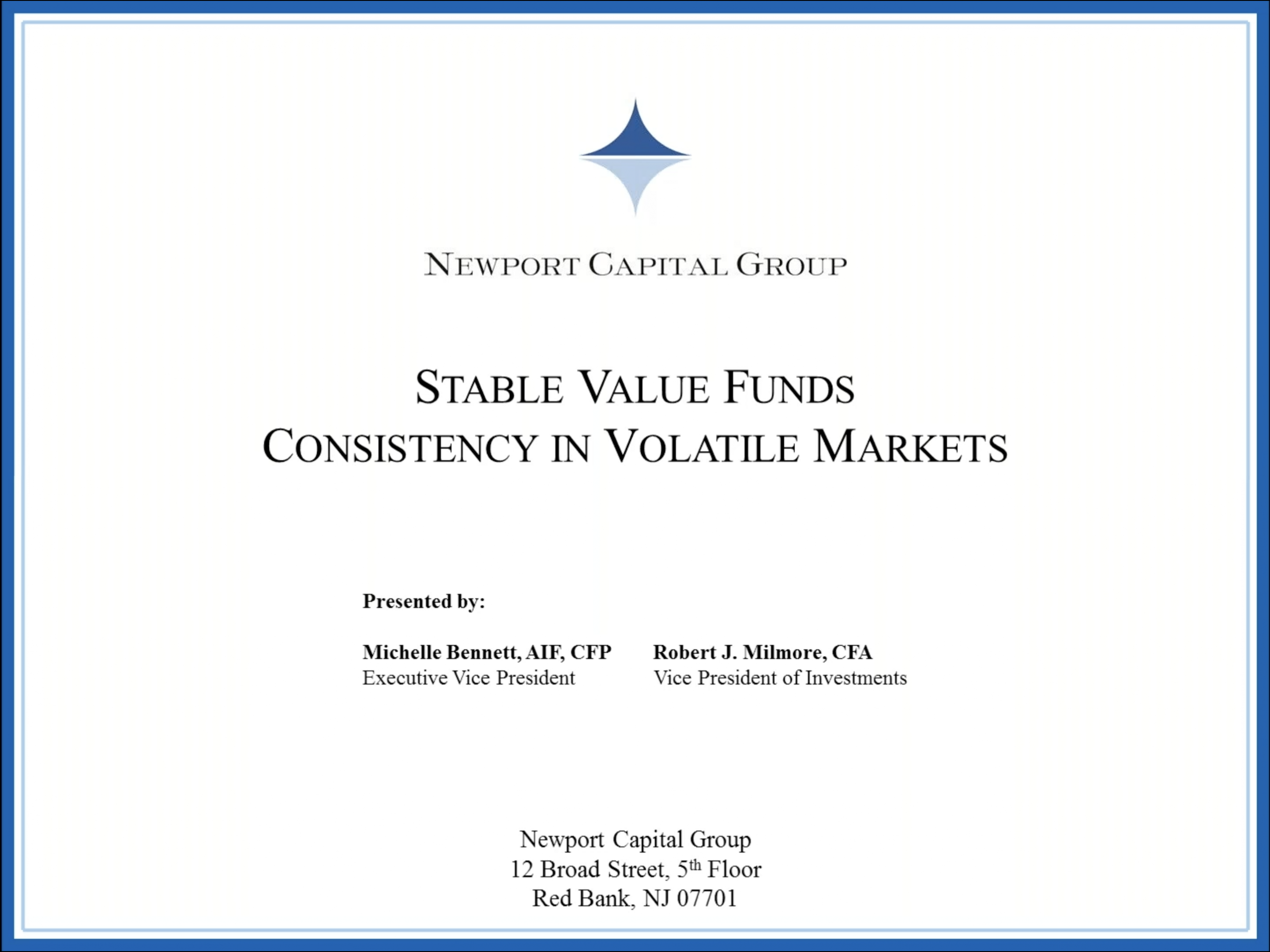 Stable Value Funds: Consistency in Volatile Markets