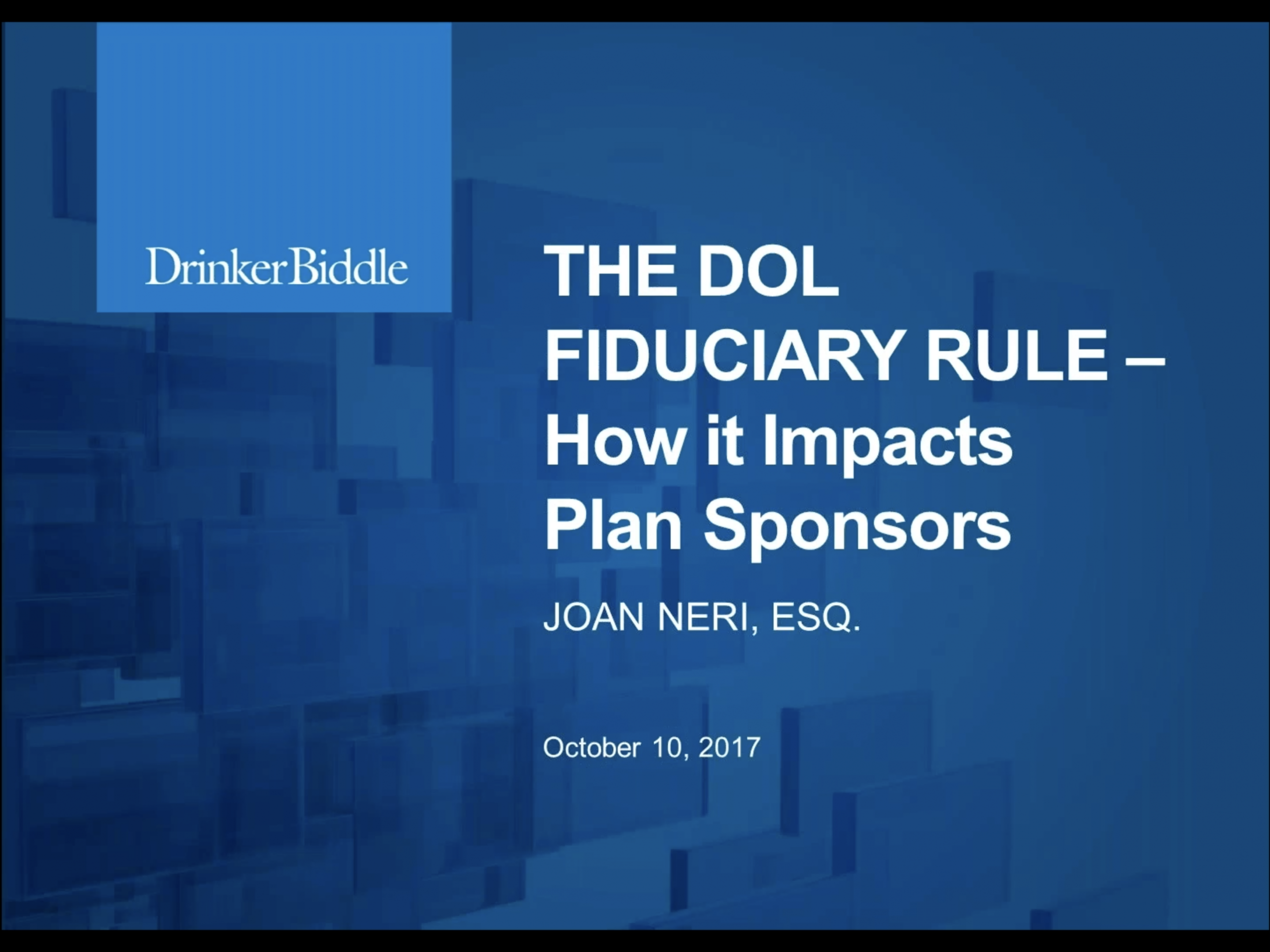 The DOL Fiduciary Rule: How It Impacts Plan Sponsors